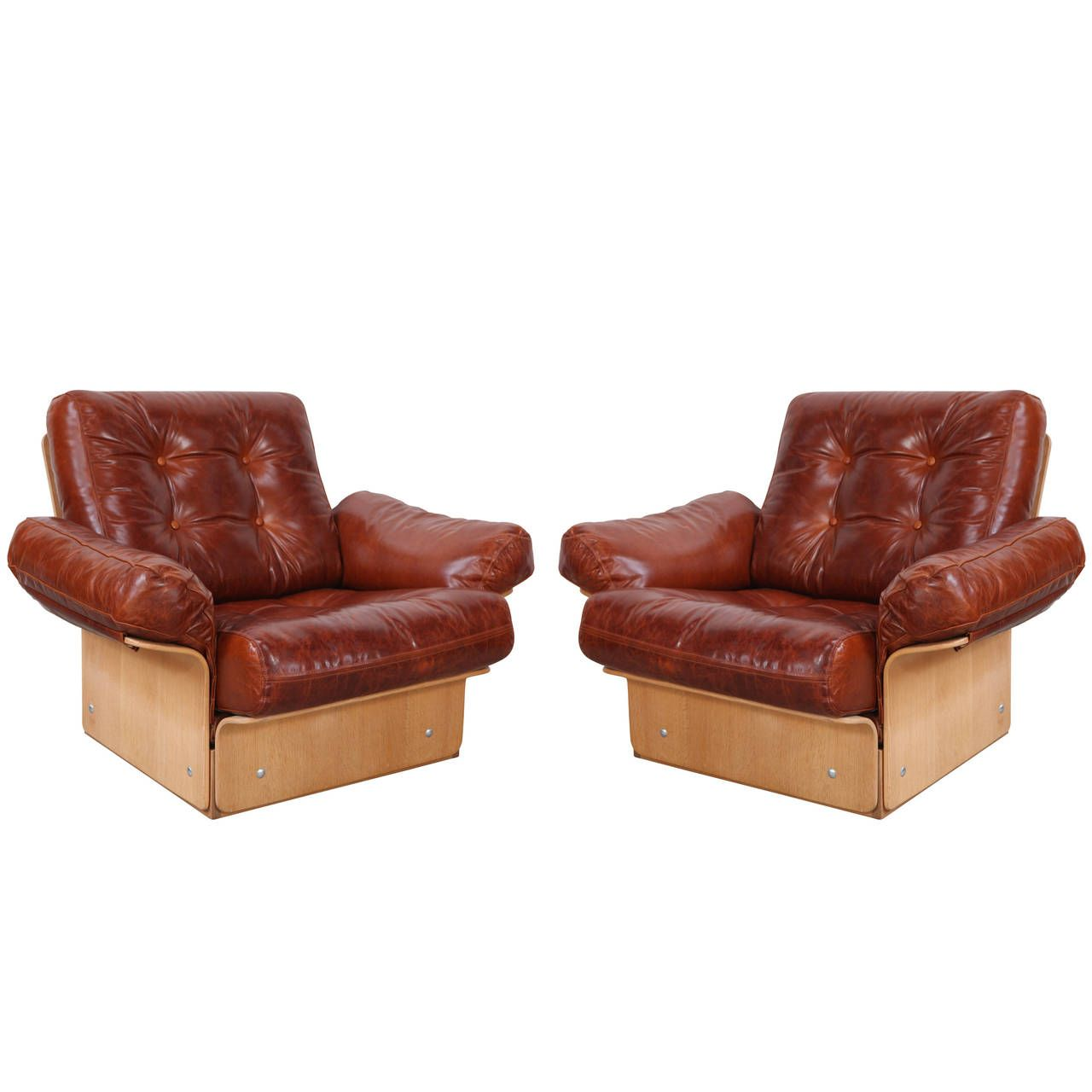 Pair of Danish Club Chairs   From a unique collection of antique and modern club chairs at https://www.1stdibs.com/furniture/seating/club-chairs/