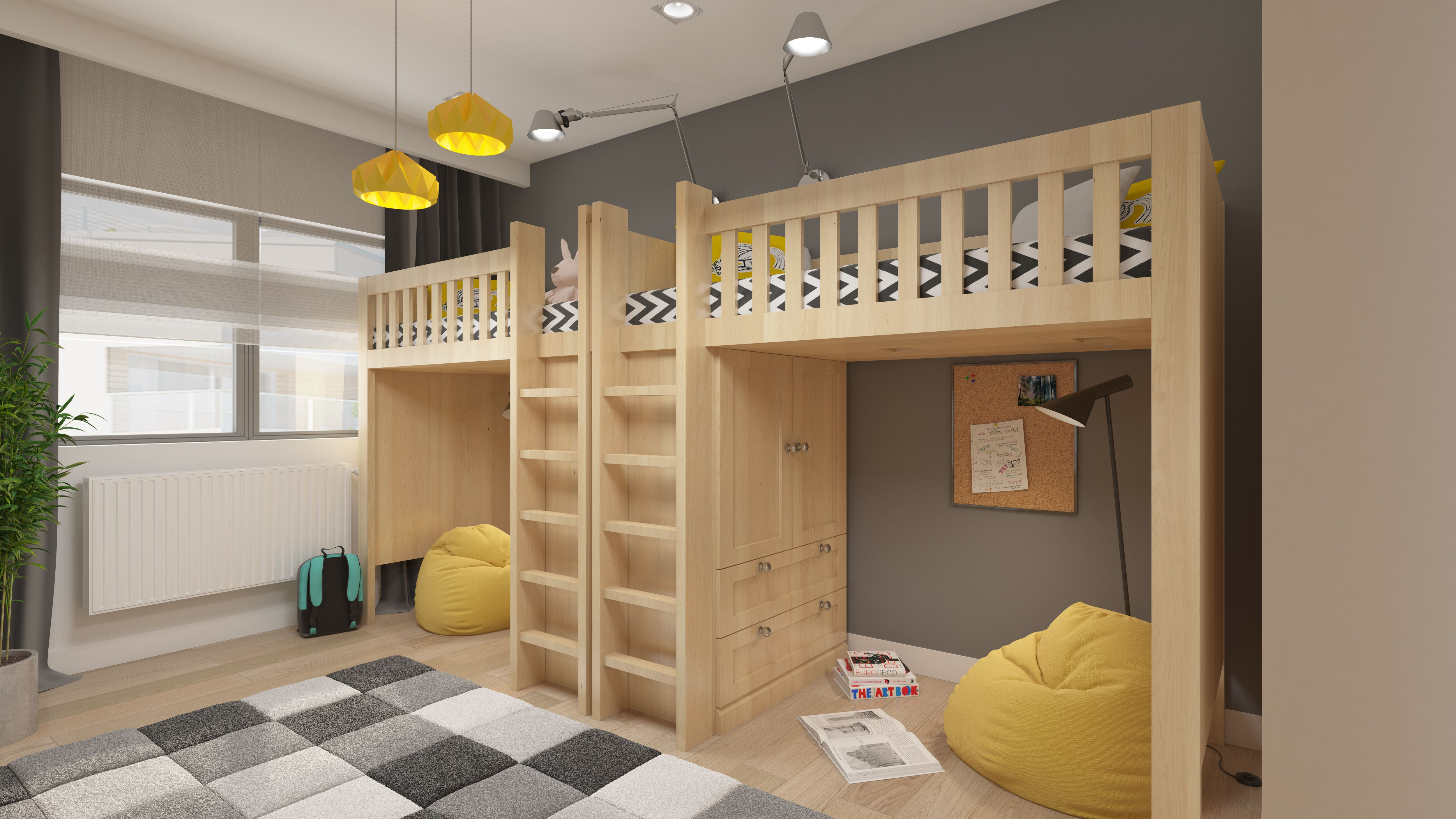 Design Variant Of Boarding House Bedroom Design With Bunk Beds Home Interior Design Simple House Design Boarding House