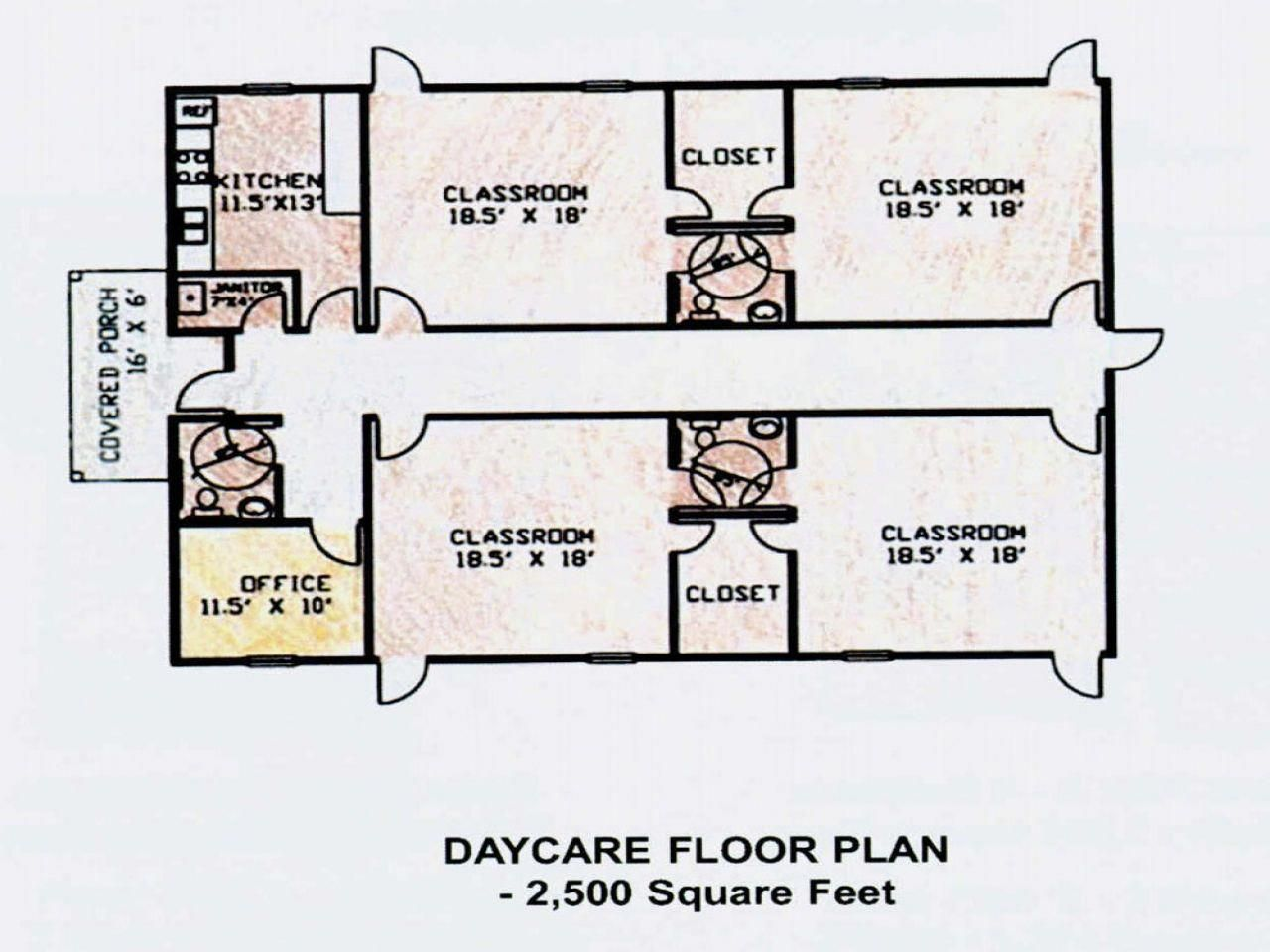Daycare Center Floor Plans Day Care Classroom Floor Plan