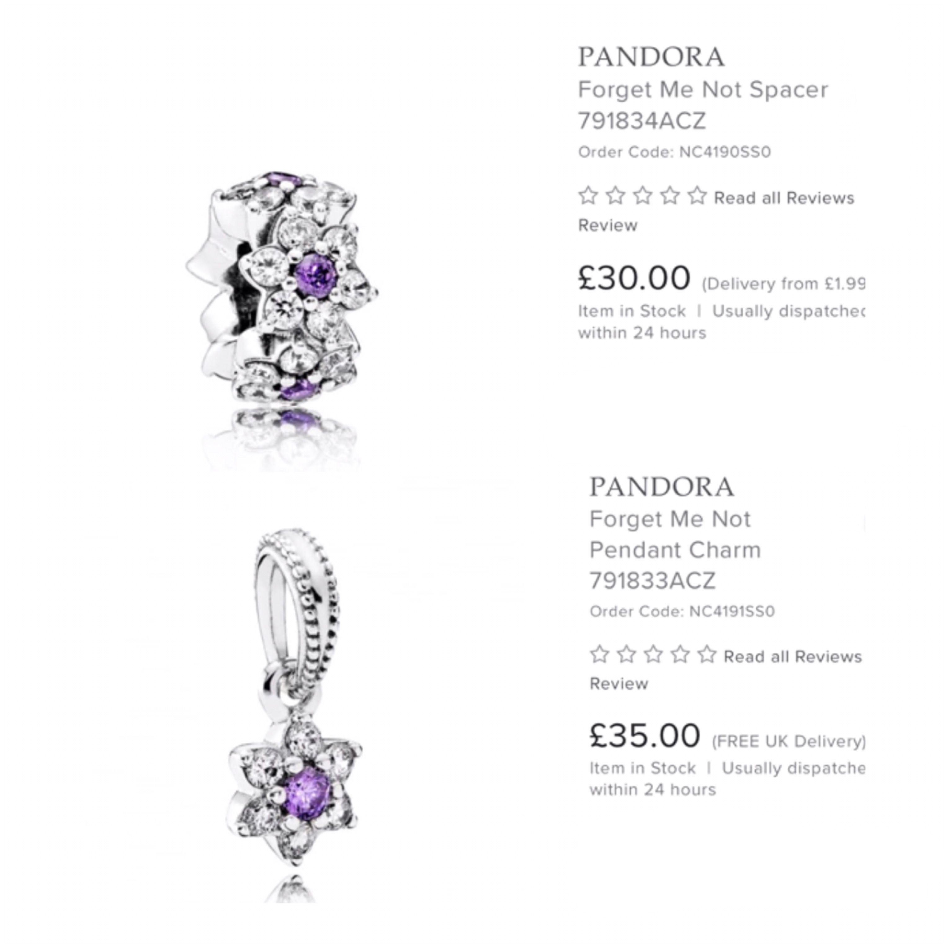 Forget Me Not 💜 #Pandora #PandoraCharms