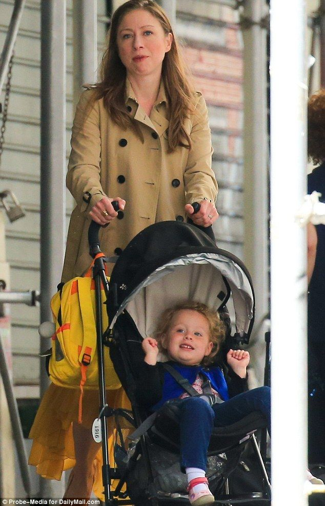 Chelsea Clinton takes Charlotte to first day of preschool with nanny ...