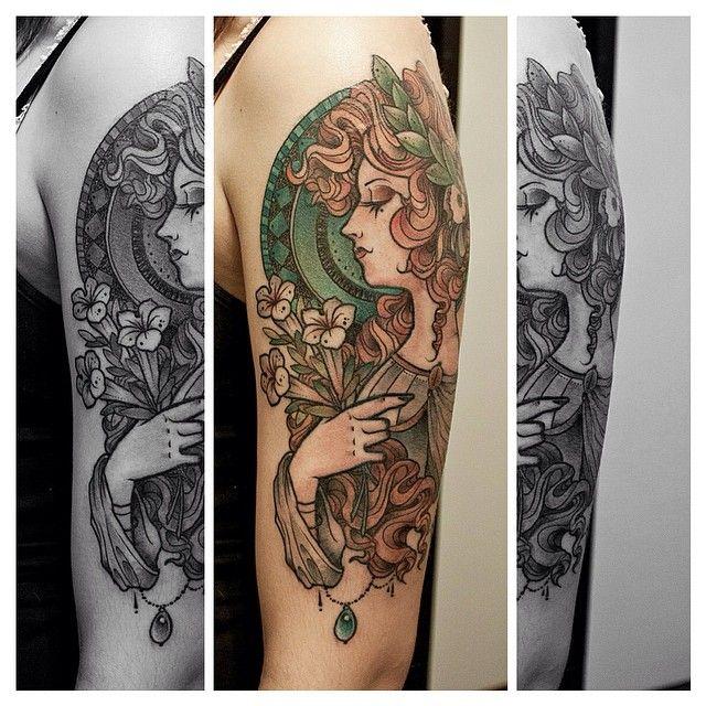 92090c001260e By Santi Bord @ thinktattooparlour #neotrad #neotraditional #neotradsub # tattoo…