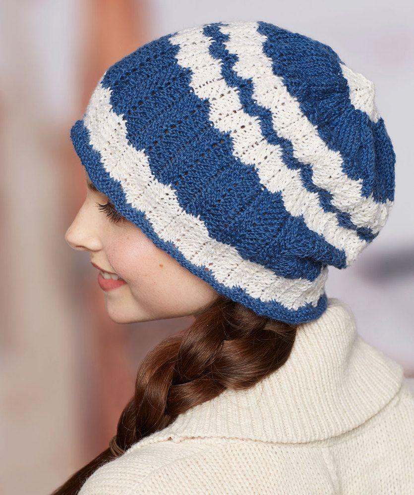 wavy-skull-cap-free-knitting-pattern | Knit Hat Patterns | Pinterest ...