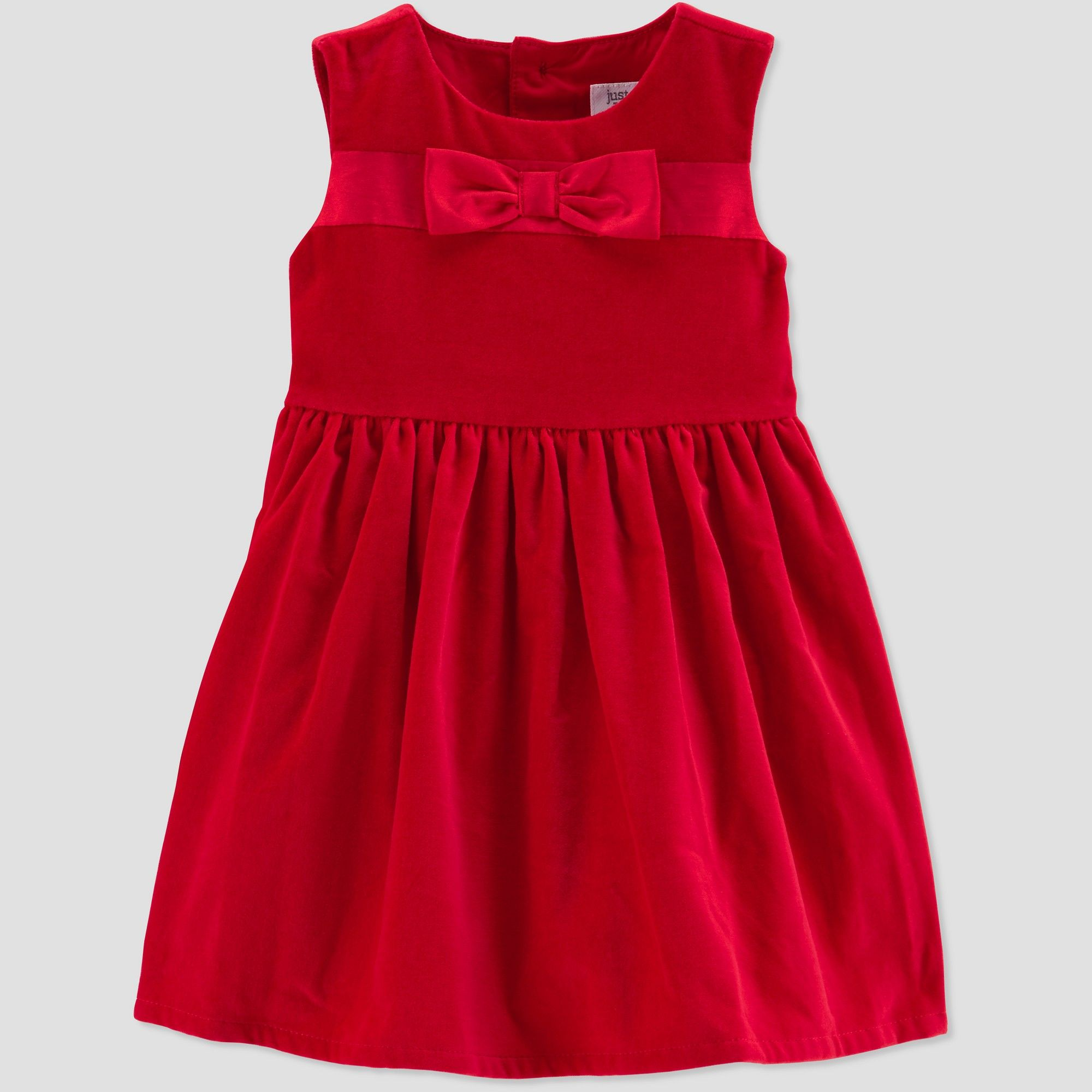8f328e13b217 Toddler Girls' Bow Holiday Dressy Dress - Just One You made by carter's Red  3T