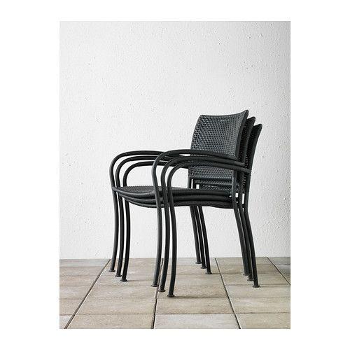 LÄCKÖ Stol med armlener, utendørs  - IKEA