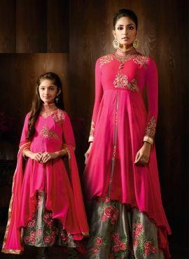 83bb6b5bf9 Custom Make Brides Maid Lehenga Choli for mother and daughter in ...