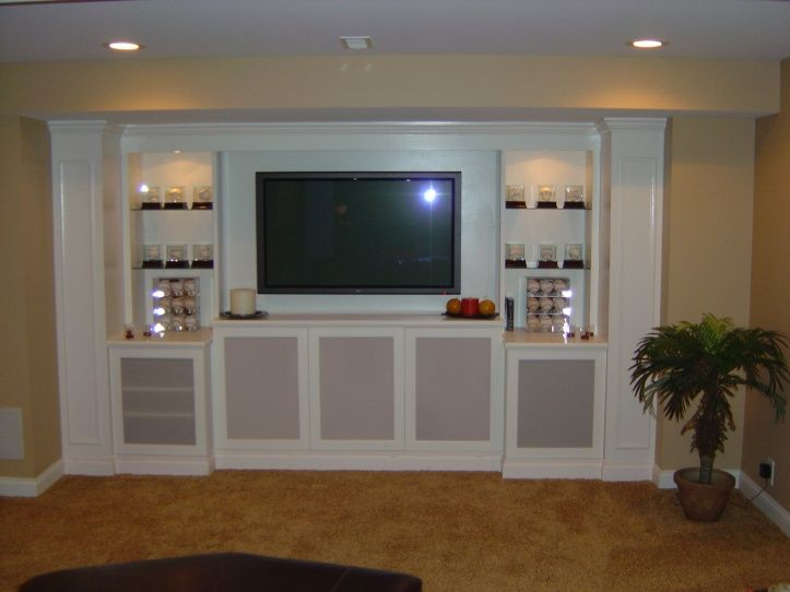 perhaps frosted glass doors for the components | media cabinet