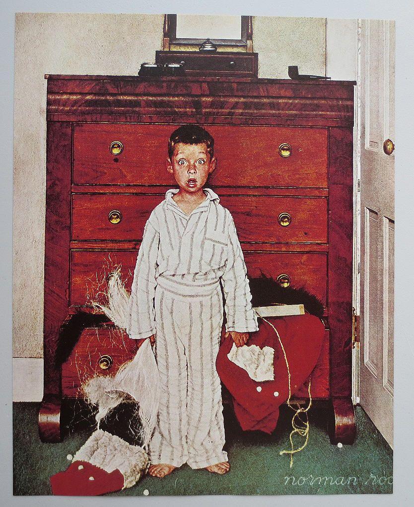 Vintage Norman Rockwell Christmas Print - \