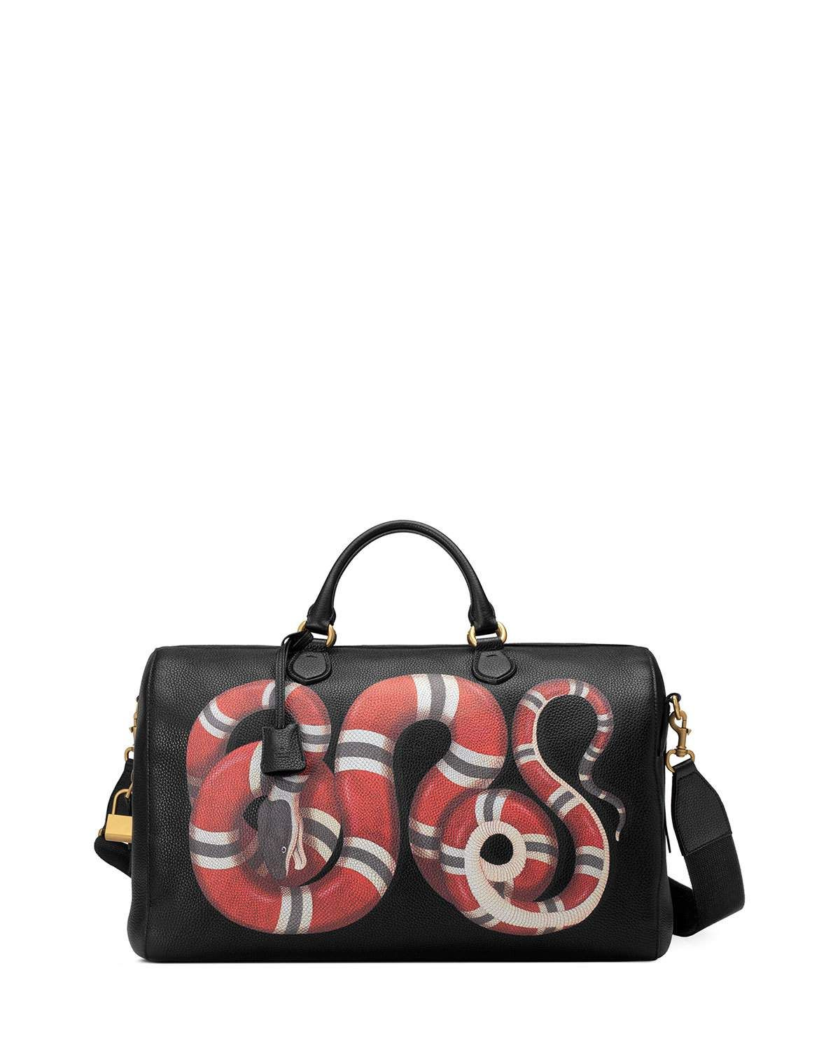 c79b066c96a Gucci Men s King Snake-Print Duffel Bag