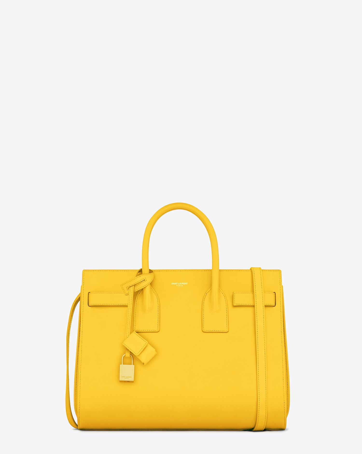 Saint Lau Classic Small Sac De Jour Bag In Yellow Leather Ysl Photos