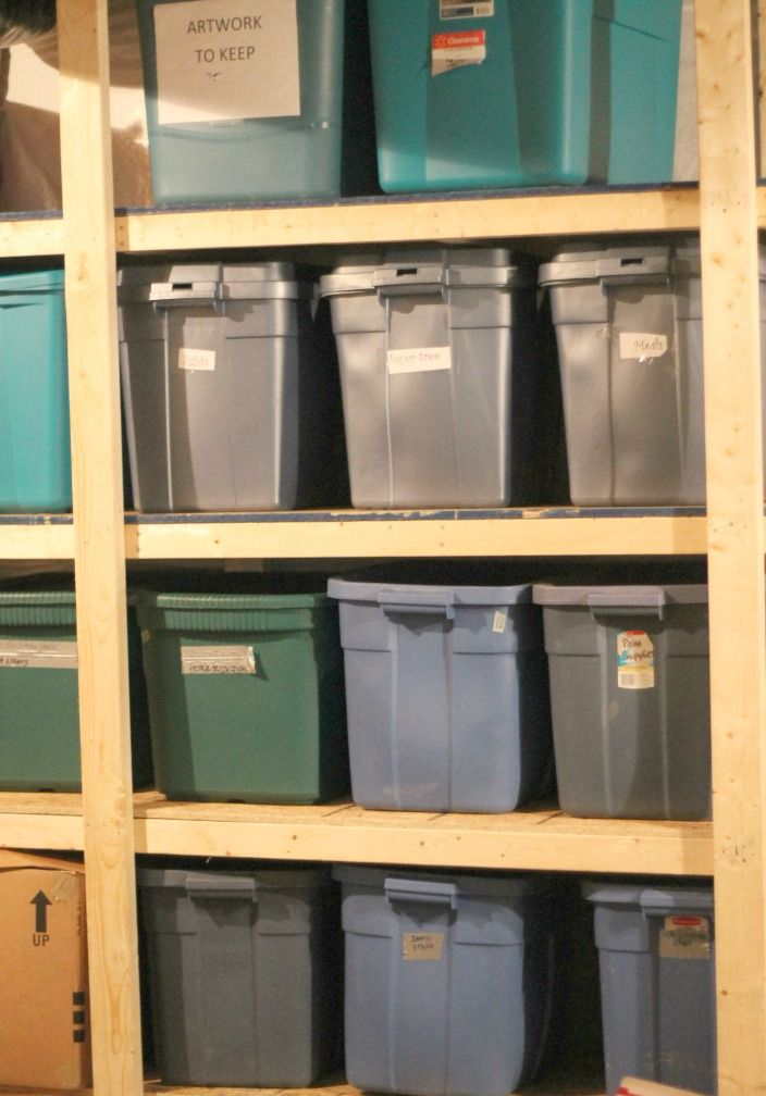 Easy Diy Garage Storage Shelves Made To Fit Your Own Containers Bin
