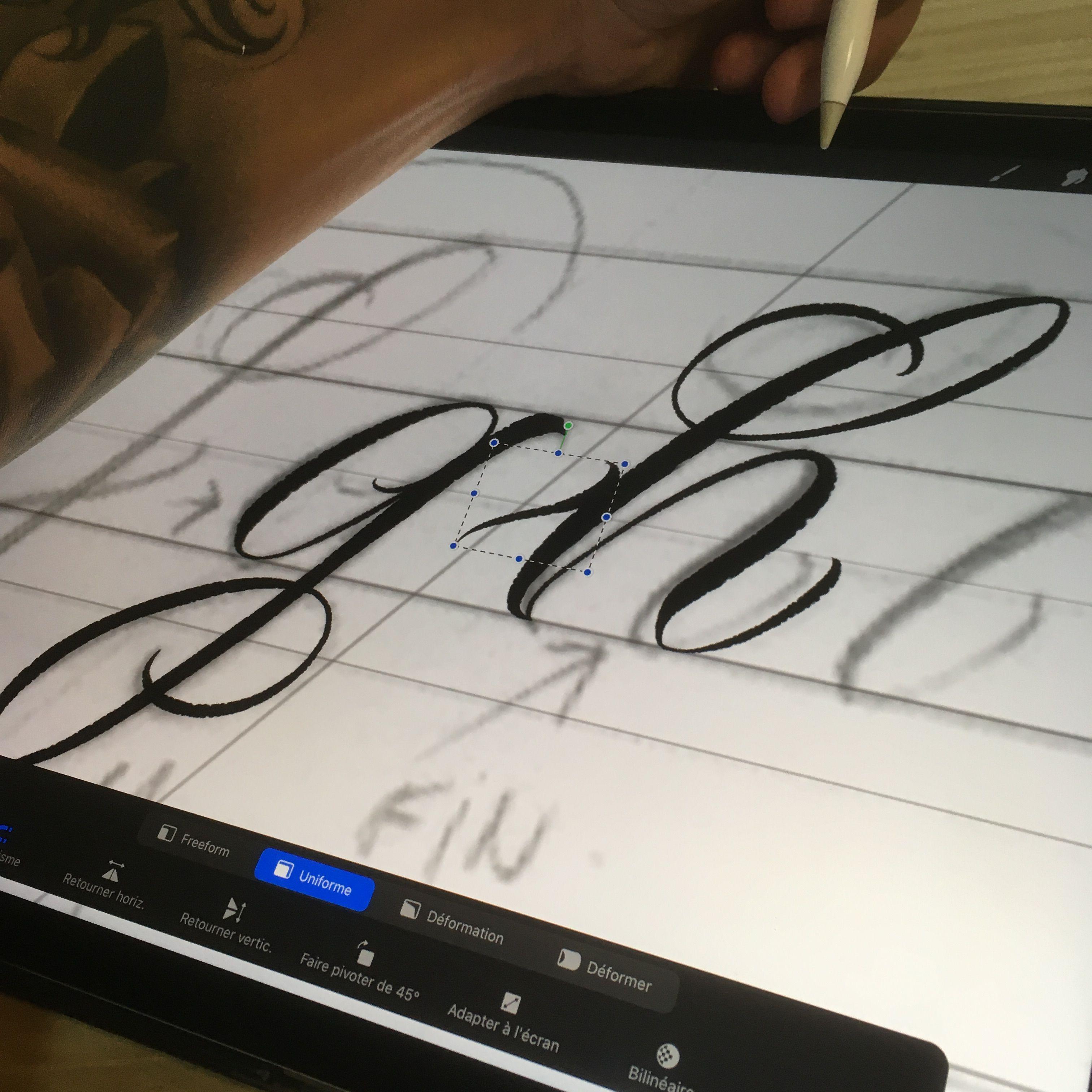 Chicano lettering tattoo brush for procreate Brushestock
