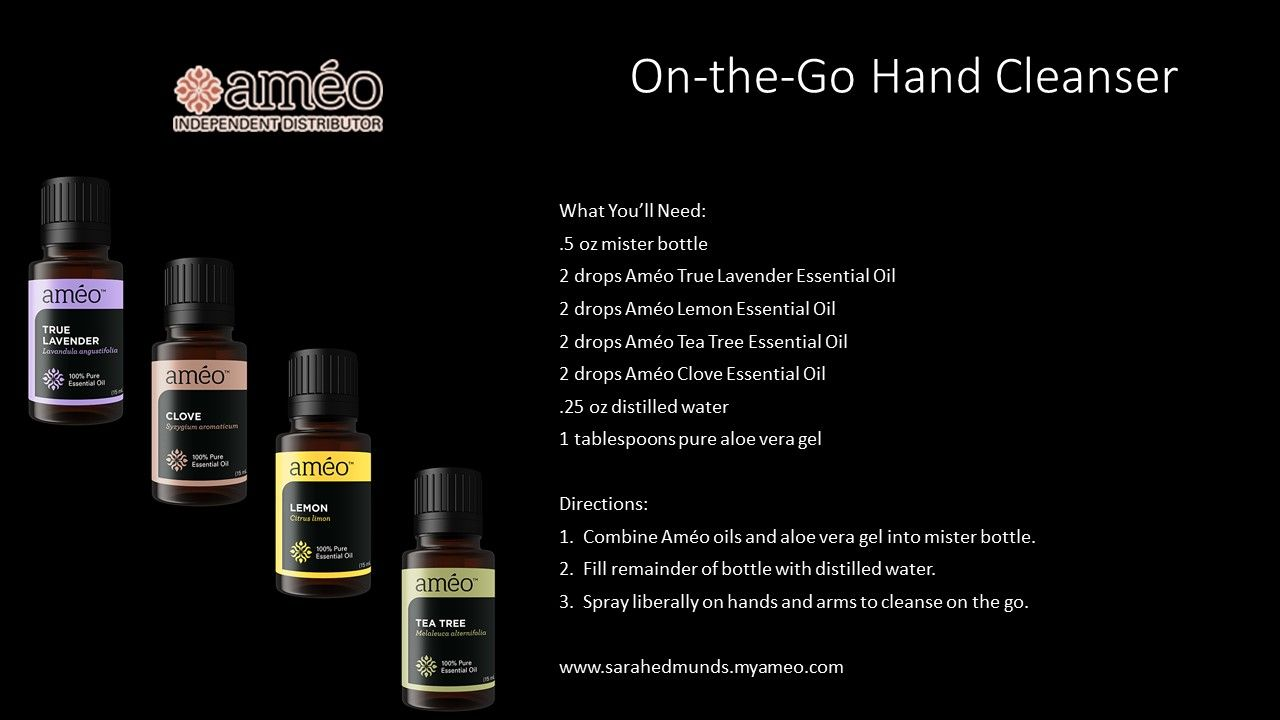 Essential Oil Recipe Ameo Essential Oils On The Go Hand Cleanser