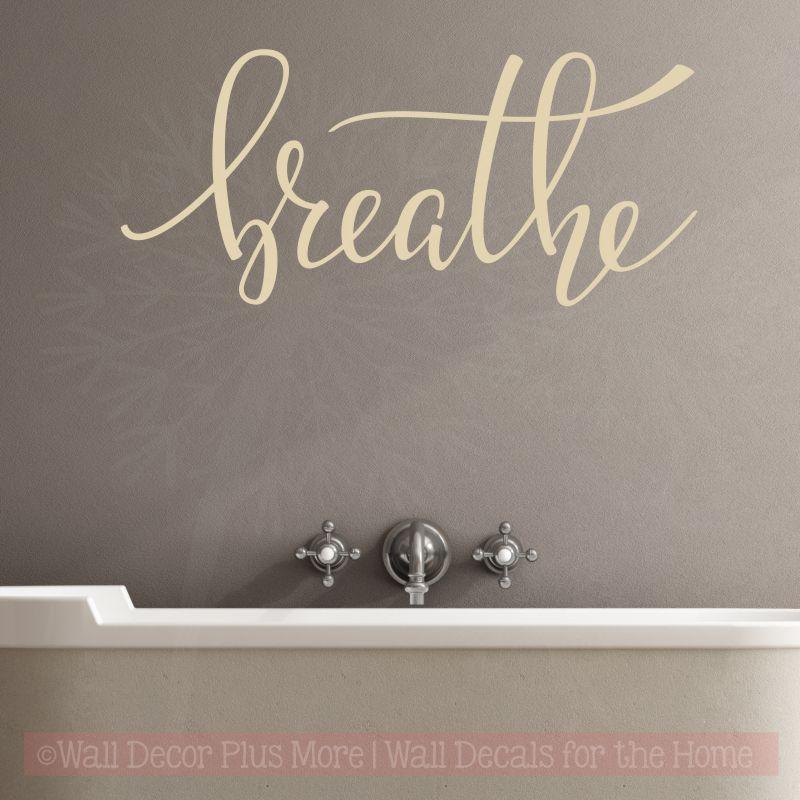 Bathroom Decals Wall Decor Quote Spa