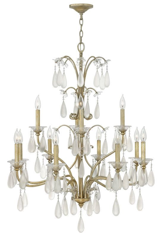 View the fredrick ramond fr40318 12 light 2 tier candle style crystal accent chandelier from the