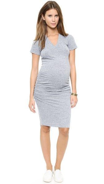 e0bf5b3fd1c MONROW Maternity Shirred Tee Dress
