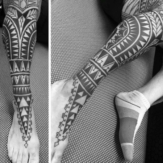 40 Polynesian Leg Tattoo Designs For Men Manly Tribal Ideas Polynesian Leg Tattoo Leg Tattoos Polynesian Tattoo
