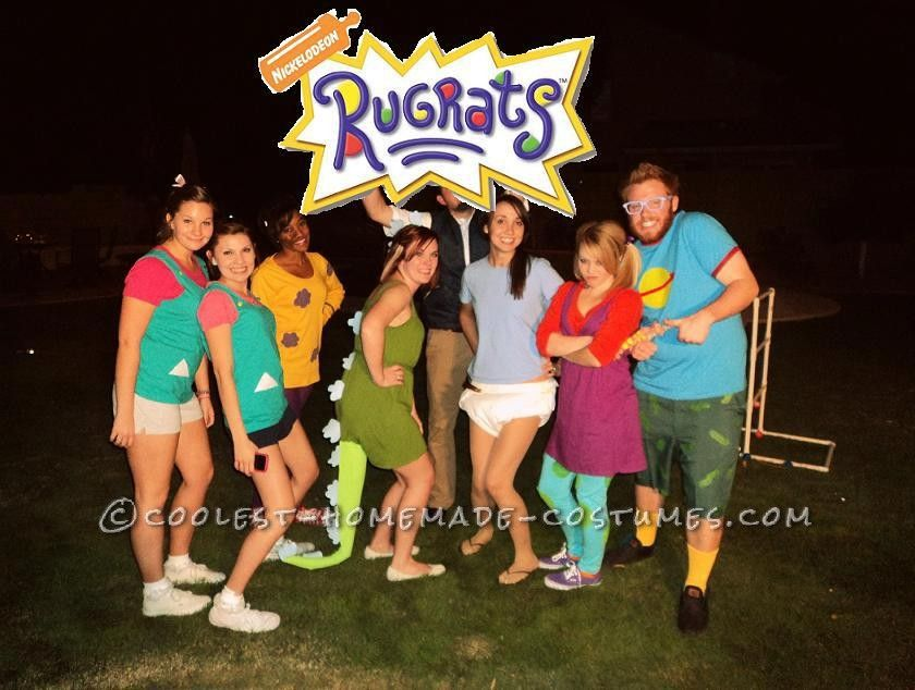 Homemade Rugrats Group Costume | Rugrats, Homemade costumes and ...