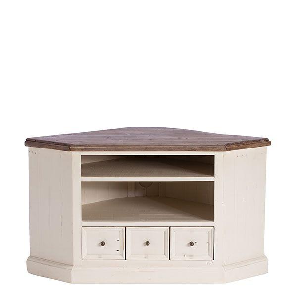 Berkshire Reclaimed Wood Low Corner TV Cabinet