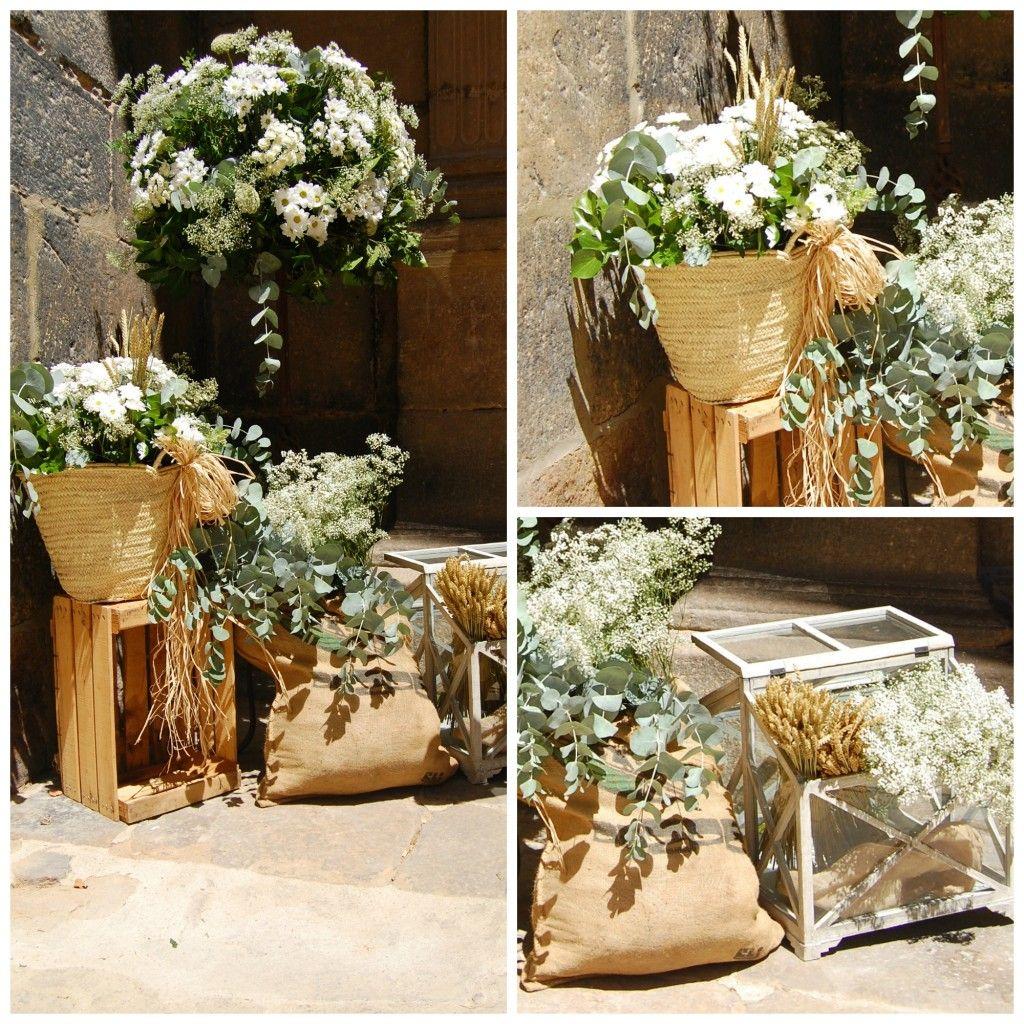 decoración floral para una boda rústica. decoraciÓn floral boda