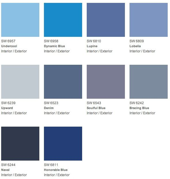 Top 10 Sherwin Williams Blues Blue Gray Paint Colors Bedroom