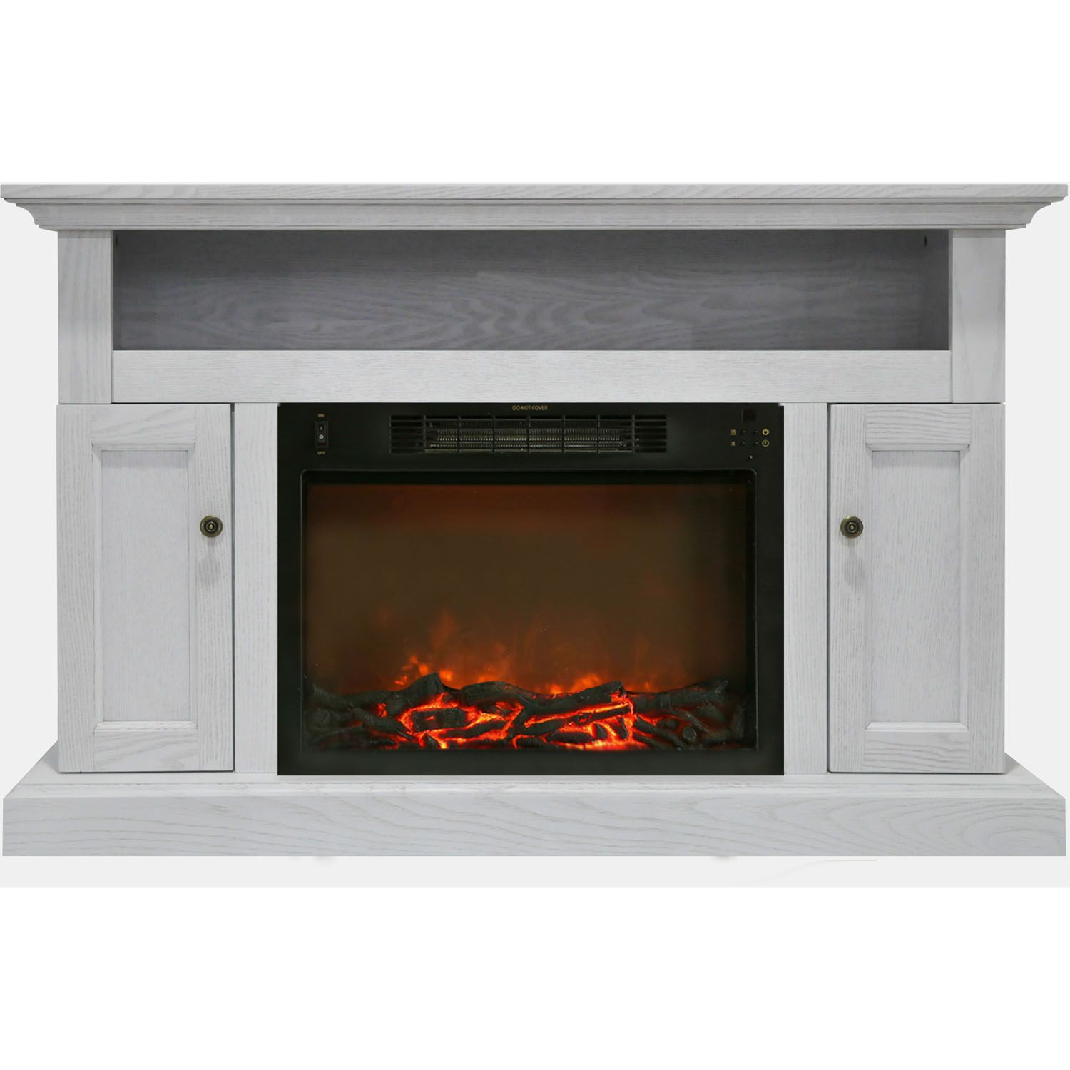 Cambridge Sorrento Fireplace Mantel With Electronic Fireplace Insert White Electric Fireplace Fireplace Tv Stand Fireplace Heater