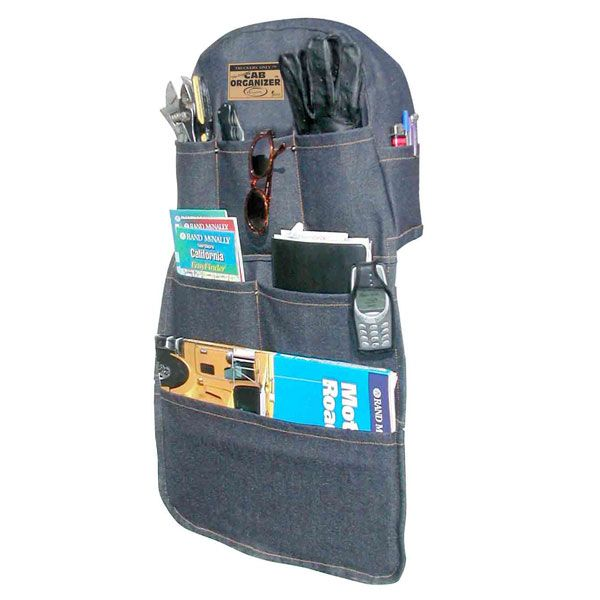 Truck Seat Organizer >> The Original Denim Cab Organizer Fits Over The Passenger