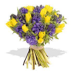 Buy Yellow Tulips W Purple Flowers Bouquet Cebu City Philippines Buy Mix Flower Cebu City Philippines Send Mix Flower Cebu City Philippines Send Flower To Ceb Purple Flower Bouquet Yellow Tulips Hyacinth Flowers