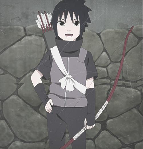 Little Sasuke Uchiha. His Voice Sounds Super Weird In The