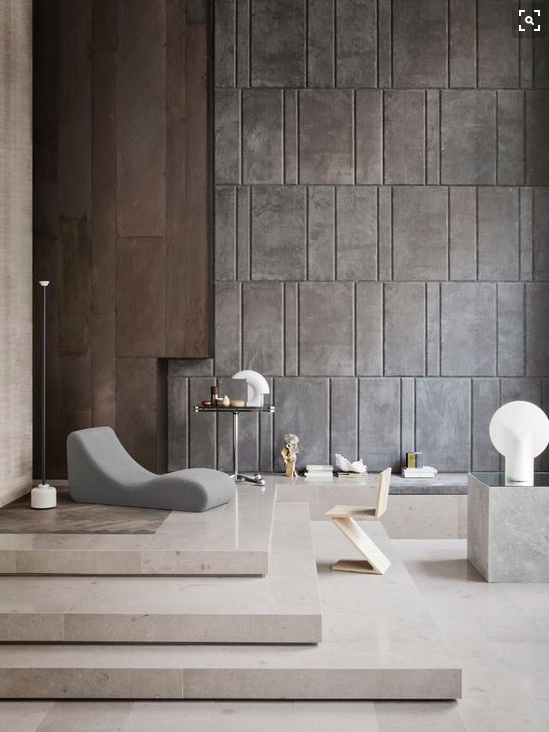 Une pièce à vivre dans une ambiance très brute. #décoration #luxe ...