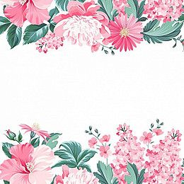 Hand Painted Flowers Background Floral Background Flower Frame Vintage Flowers