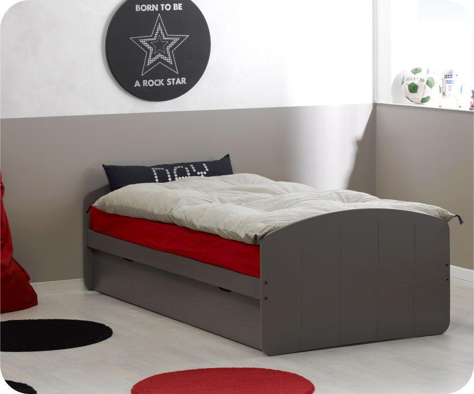 Lit Enfant Gigogne Dream In Taupe 90x190cm Lit Gigogne Lit Enfant Idee Pour Petite Chambre