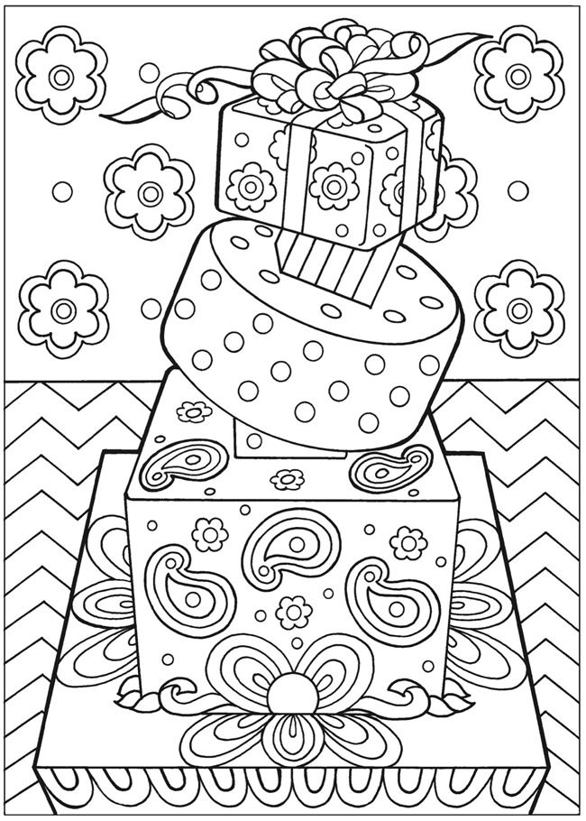 Creative Haven Designer Desserts Coloring Book Free Colour