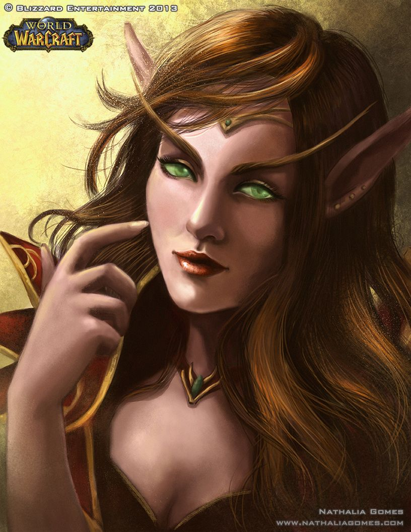 Blood elf fanart © Blizzard Entertainment