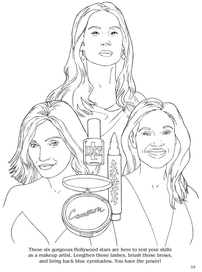 Celebrity scenes fun games with hollywood stars coloring book