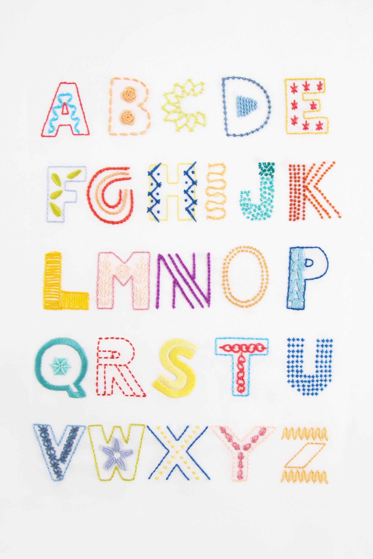Alfabeto bordado | Bordados | Pinterest | Bordado, Alfabeto bordado ...