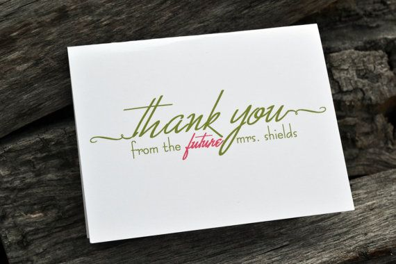 personalized bridal shower thank you notes by itsybitsypaper 1800