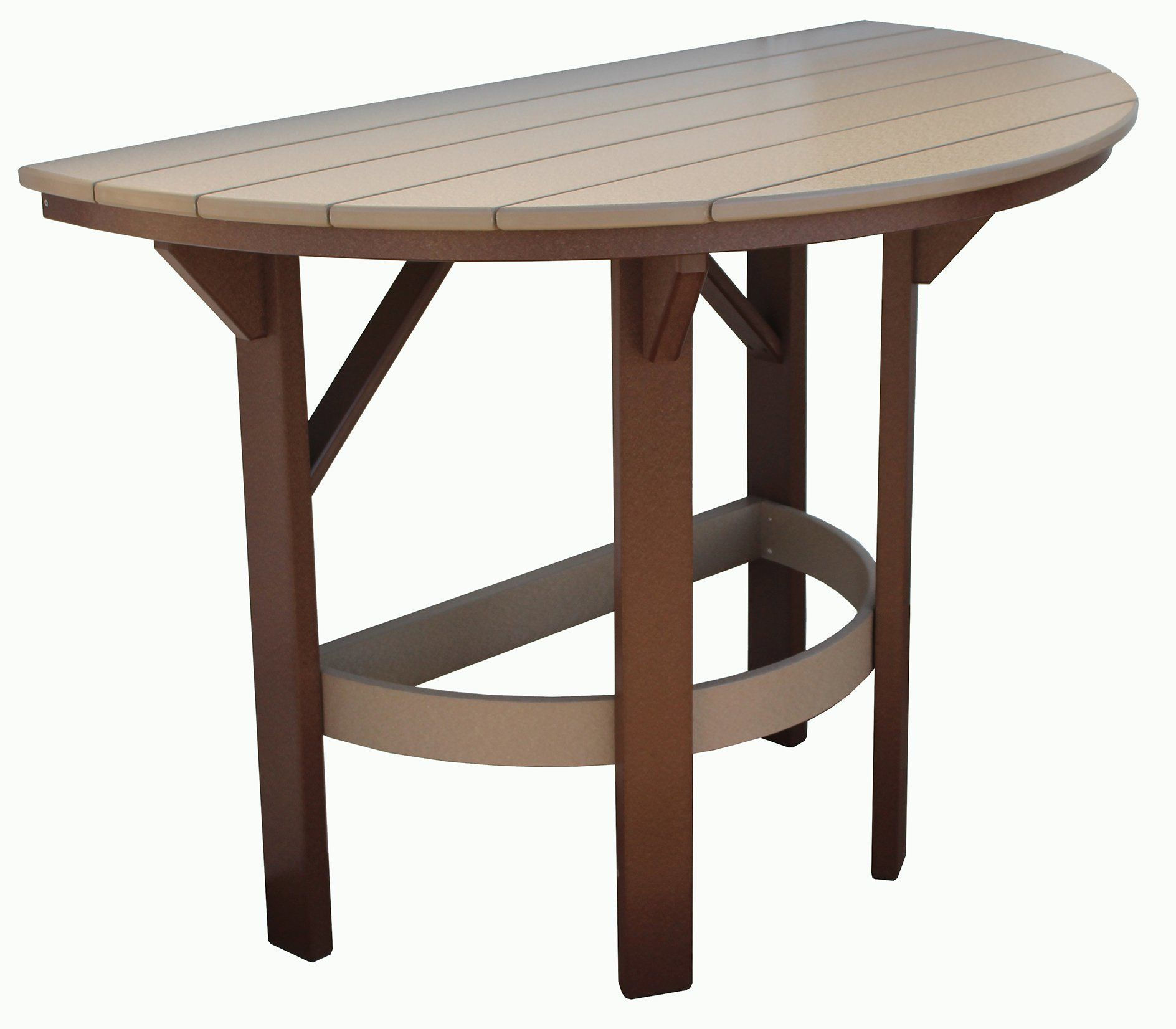 Amish Seaside 60 Half Round Poly Composite Dining Table Dining Table Poly Furniture Outdoor Furniture Collections 60 inch round outdoor dining table