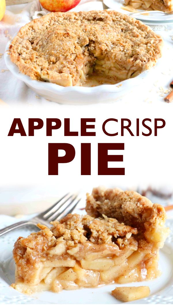 Apple Crisp Pie #easypierecipes