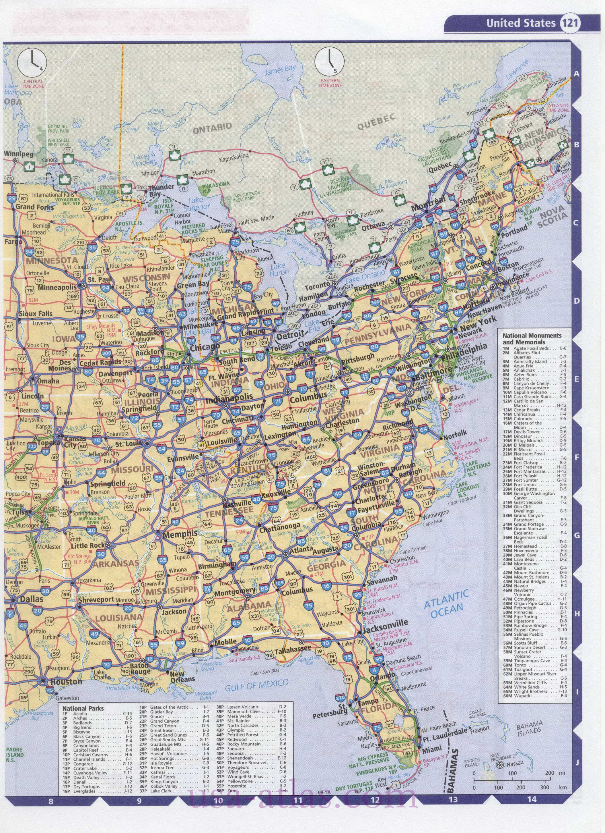 Road Map USA Detailed Road Map Of USA Large Clear Highway Map Of - Large detailed us map