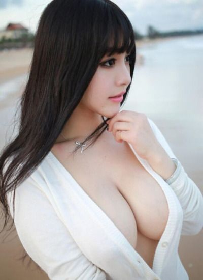 Asian girl touch white tits