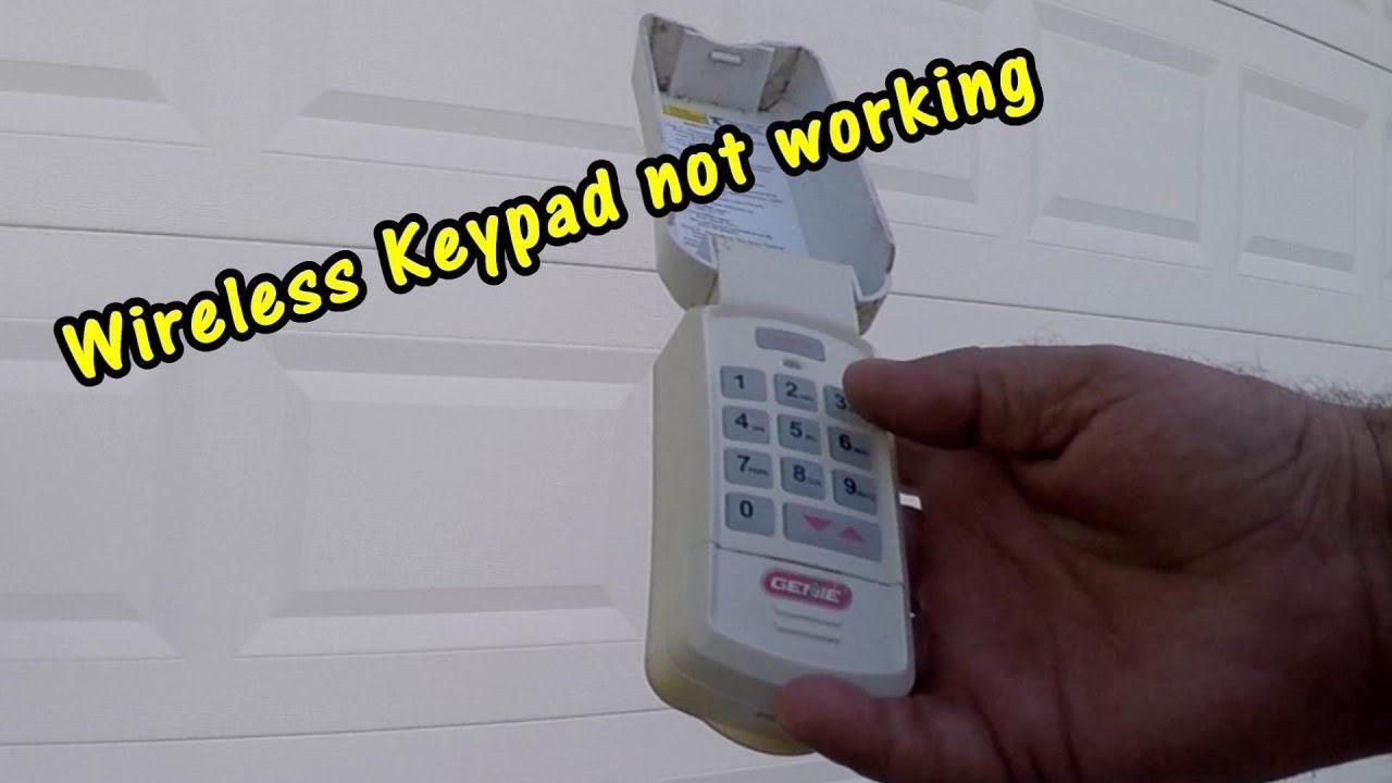 HOW TO REPAIR WIRELESS KEYPAD GARAGE DOOR