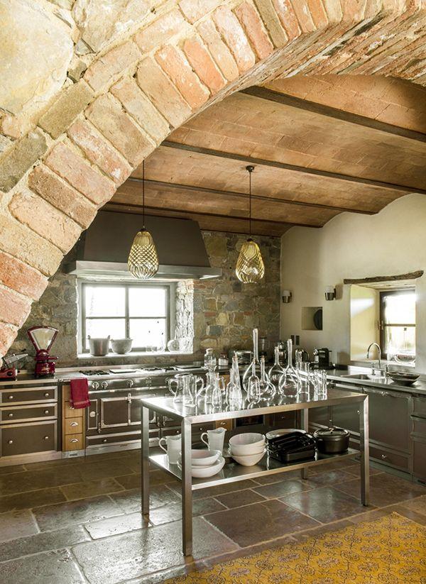 enchanting farmhouse kitchen design   Enchanting Tuscan farmhouse with modern-rustic details ...