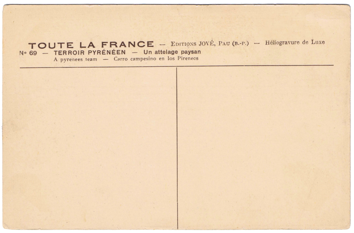 Free Printable French Graphics Front And Back Of Postcard