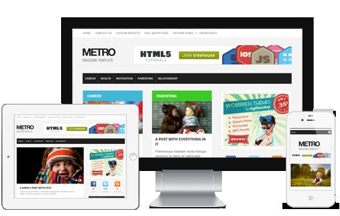 Metro A Ultra Modern Responsive Magazine Blog WordPress Theme ...