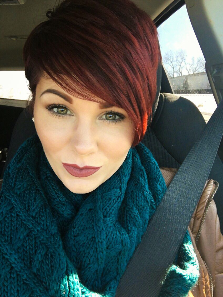 Red pixie cut short hair style pinterest red pixie cuts red