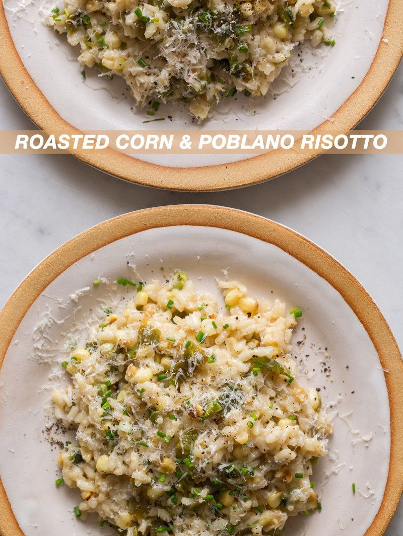 Corn and Poblano Risotto Roasted Corn and Poblano Risotto made with @almondbreezeRoasted Corn and Poblano Risotto made with @almondbreeze