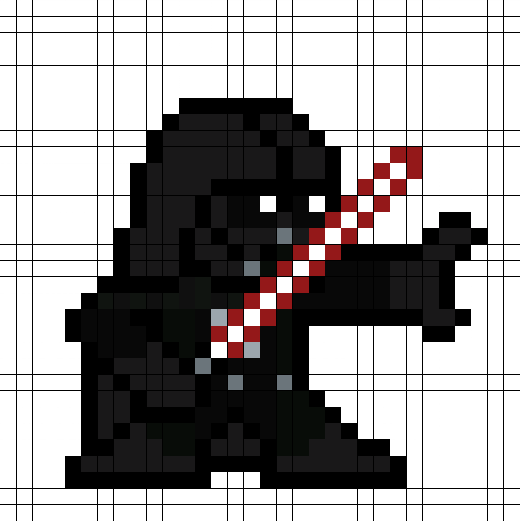 Darth Vader Perler Bead Pattern Pixel Pattern Star Wars
