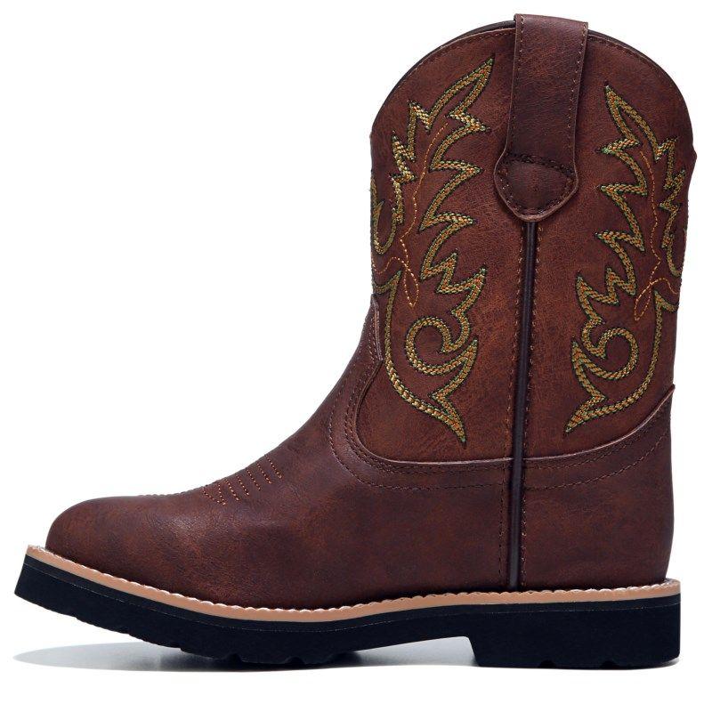 John Deere Kids' Everyday Round Toe Cowboy Boot Toddler/Preschool Boots (Dark  Chestnut)