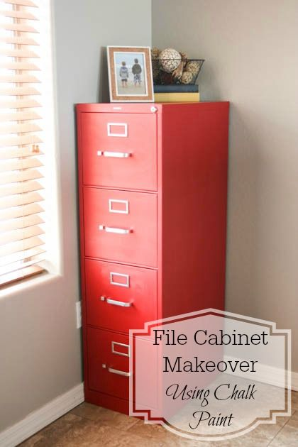 File Cabinet Makeover Using Chalk Paint (Pretty Handy Girl) | Chalk ...
